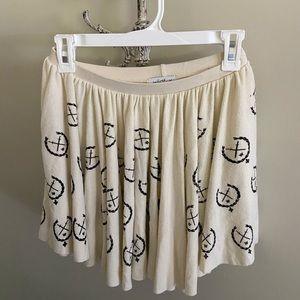 NWOT Wildfox Logo BBJ fabric Skirt size 10 Girls
